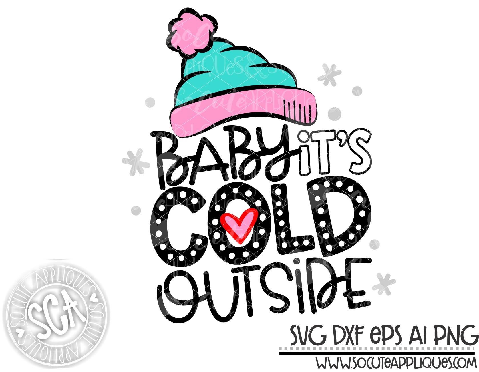 Baby Its Cold Outside Hat 18 Svg Sca Socuteappliques Net